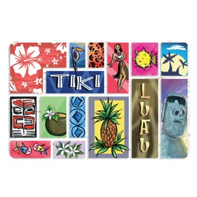 The Softer Side by Weather Guard™ 18-Inch x 27-Inch Polynesian Tiki Bar Kitchen Mat