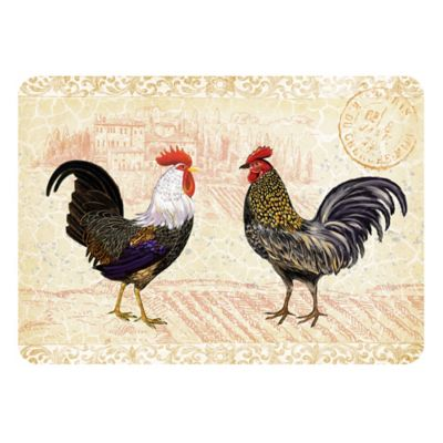 The Softer Side by Weather Guard™ 18-Inch x 27-Inch Rooster Provence Kitchen Mat