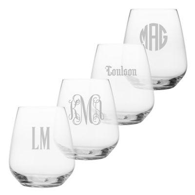 Susquehanna Glass Stemless Wine Glasses (Set of 4)