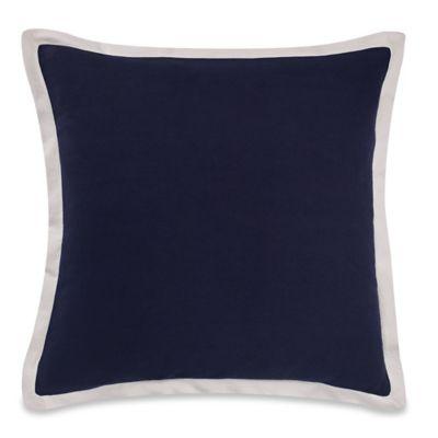 kate spade new york Candy Stripe European Pillow Sham in Navy