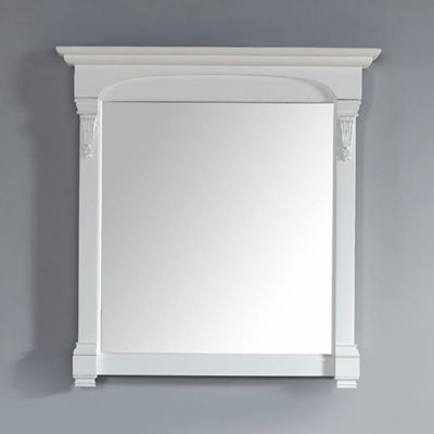 James Martin Furniture Brookfield 39.5-Inch Mirror in Cottage White