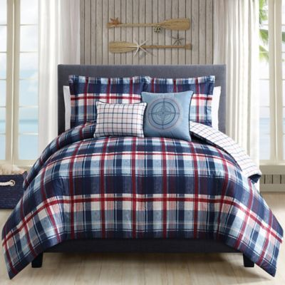 Breezy Plaid 5-Piece Twin Comforter Set