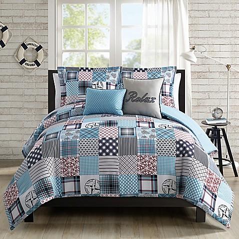 Coastal Patchwork 5 Piece Comforter Set Www