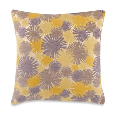 Hertzsprung 20-Inch Square Throw Pillow in Yellow and Grey
