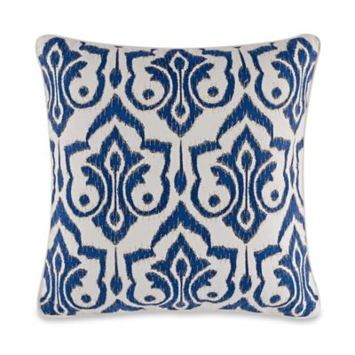 Trefoil 20-Inch x 20-Inch Throw Pillow in True Blue