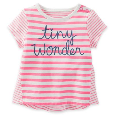 "baby B'gosh® Size 3M ""Tiny Wonder"" Striped T-Shirt in Pink/Blue"