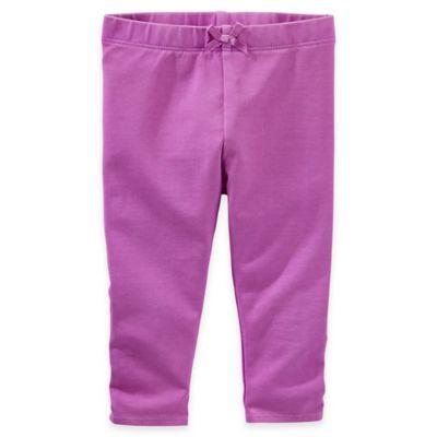 baby B'gosh® Size 3M Neon Faux-Drawstring Legging in Lilac