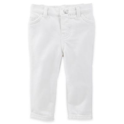 baby B'gosh French Terry Roll-Cuff Jegging in White