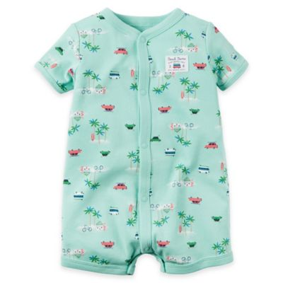 carter's® Size 3M Snap-Up Paradise Romper in Blue