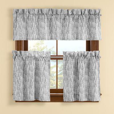 Boulder 14-Inch Window Valance in Grey