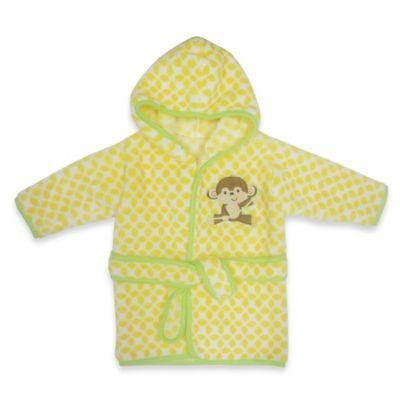 Neat Solutions® Happy Monkey Hooded Bathrobe in Yellow
