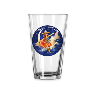 Boelter Brands Miller Light Girl in Moon Retro Pint Glass