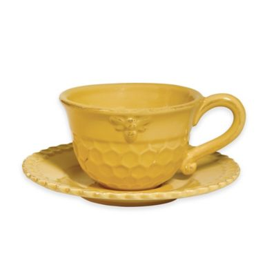 Boston International Honeycomb Teacup and Saucer