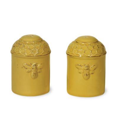 Boston International Honeycomb Salt and Pepper Shakers
