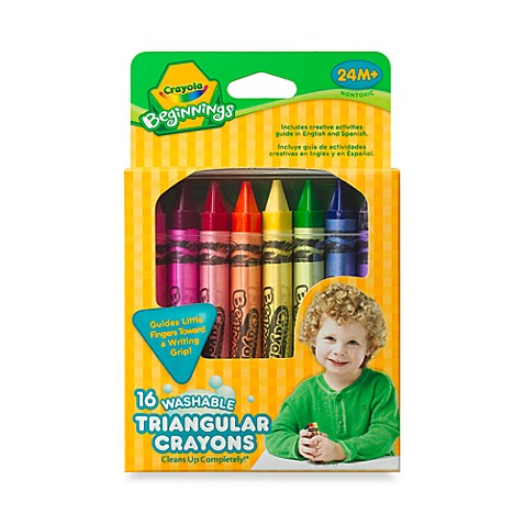 crayola beginnings 16 count washable triangular crayons buybuy baby. Black Bedroom Furniture Sets. Home Design Ideas
