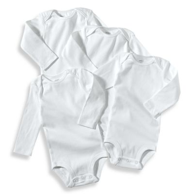 Carter's® 4-Pack Newborn White Long Sleeve Bodysuits