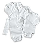 Carter's® White Silky Soft Cotton Long Sleeve Bodysuits (Set of 4) - 3 Months