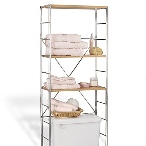 Wood/Chrome 3-Shelf Space Saver