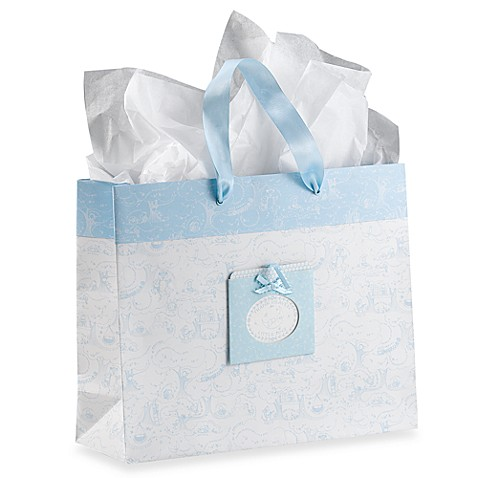 C.R. Gibson Heaven Sent Boy Extra-Large Thank Heaven for Little Boys Gift Bag
