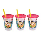Mickey Mouse Take & Toss 10-Ounce Straw Cup (3 Pack)