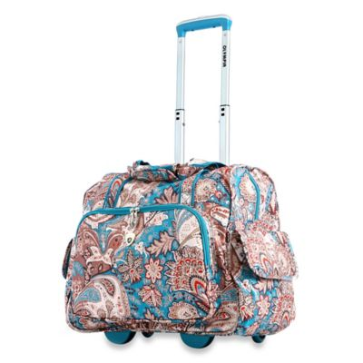 Olympia® 17-Inch Deluxe Fashion Rolling Overnighter in Paisley