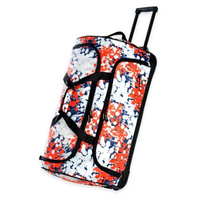 Olympia® 26-Inch Fashion Rolling Duffle in Ink Blots