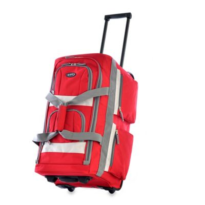 Olympia® 26-Inch 8-Pocket Rolling Duffle in Red