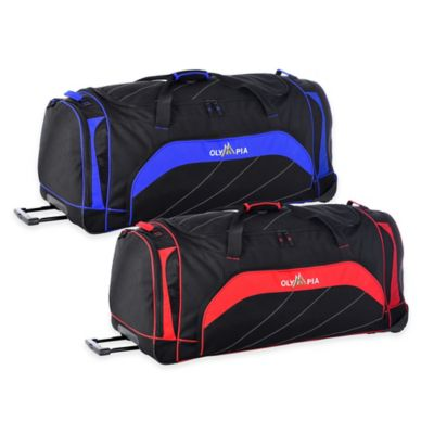 Olympia® 40-Inch Jumbo Rolling Duffle in Black/Red