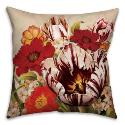 Floral Bouquet 16-Inch Square Throw Pillow