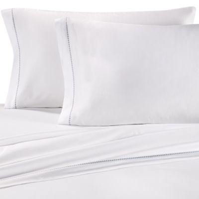 Vera Wang Home Painted Stripe California King Sheet Set in White