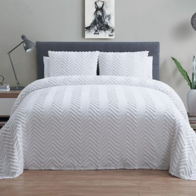 Grey Bedspread Set
