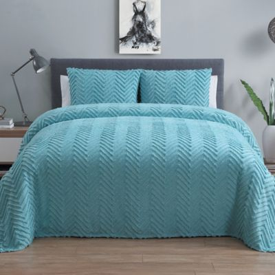 VCNY Antigua 3-Piece King Bedspread Set in Blue