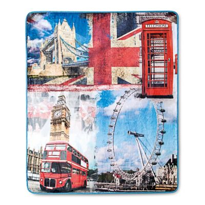 VCNY Photo Real London Throw Blanket