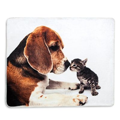 VCNY Photo Real Animals Throw Blanket
