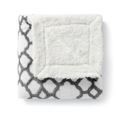Grey Teal Plush Blanket