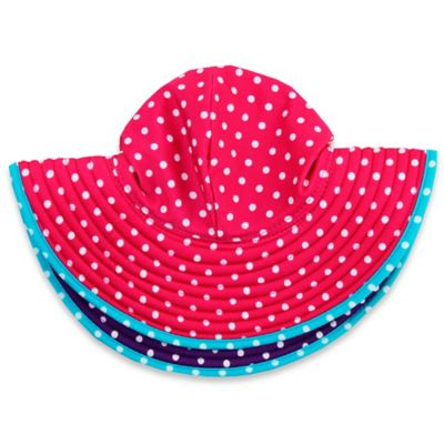 Ruffle Butts® Size 0-12M Polka Dot Swim Hat in Berry/Grape