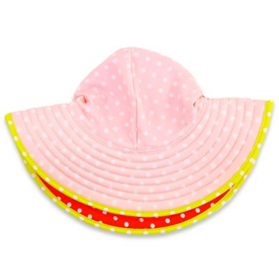 Ruffle Butts® Size 1-3 Years Polka Dot Swim Hat in Red/Pink