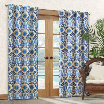 Waverly® Sun-n-Shade Santa Maria 84-Inch Grommet Top Window Curtain Panel in Azure