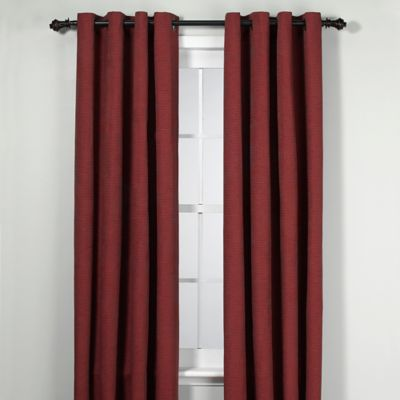 Union Square 95-Inch Grommet Top Window Curtain Panel in Brick