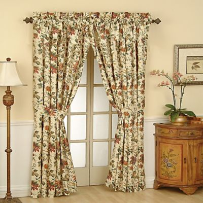 Waverly® Felicite 84-Inch Rod Pocket Window Curtain Panel in Noir
