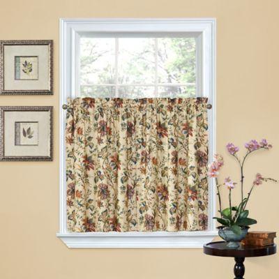 Waverly® Felicite 36-Inch Window Curtain Tier Pair in Noir