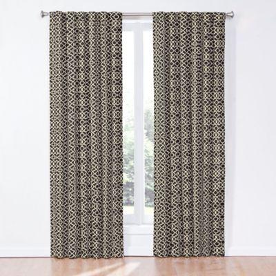 Waverly® Lovely Lattice 84-Inch Rod Pocket/Back Tab Window Curtain Panel in Onyx