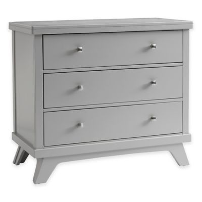 Sealy® Bella 3-Drawer Mid-Century Dresser in Grey