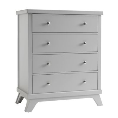 Sealy® Bella 4-Drawer Mid-Century Dresser in Grey