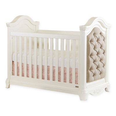 Bassettbaby® PREMIER Addison 3-in-1 Upholstered Crib in Pearl White
