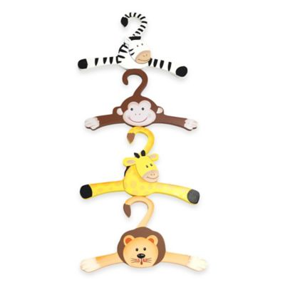 Teamson Fantasy Fields Sunny Safari Kids Wooden Hangers (Set of 4)