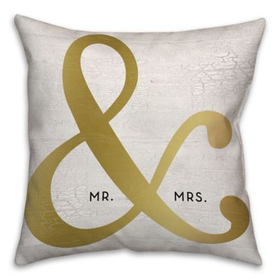 Buy Quot Mr Amp Mrs Quot Ampersand 18 Inch Square Throw Pillow In