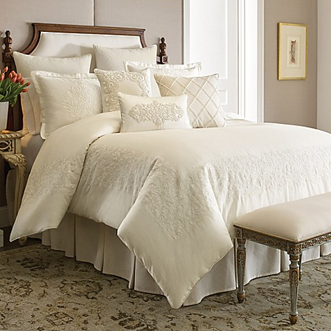 Croscill couture hepburn comforter set bed bath beyond for Matching bedroom and bathroom sets