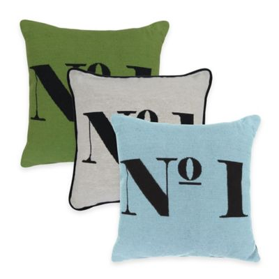 "Park B. Smith ""No. 1"" Tapestry Square Throw Pillow in Leaf"
