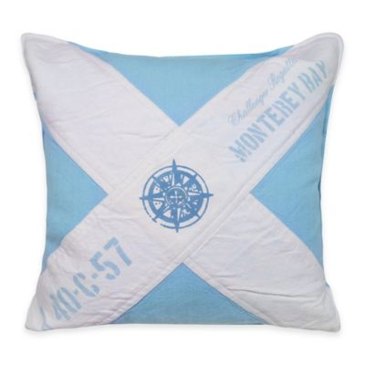 Park B. Smith® The Vintage House Monterey Bay Square Throw Pillow in Aquamarine